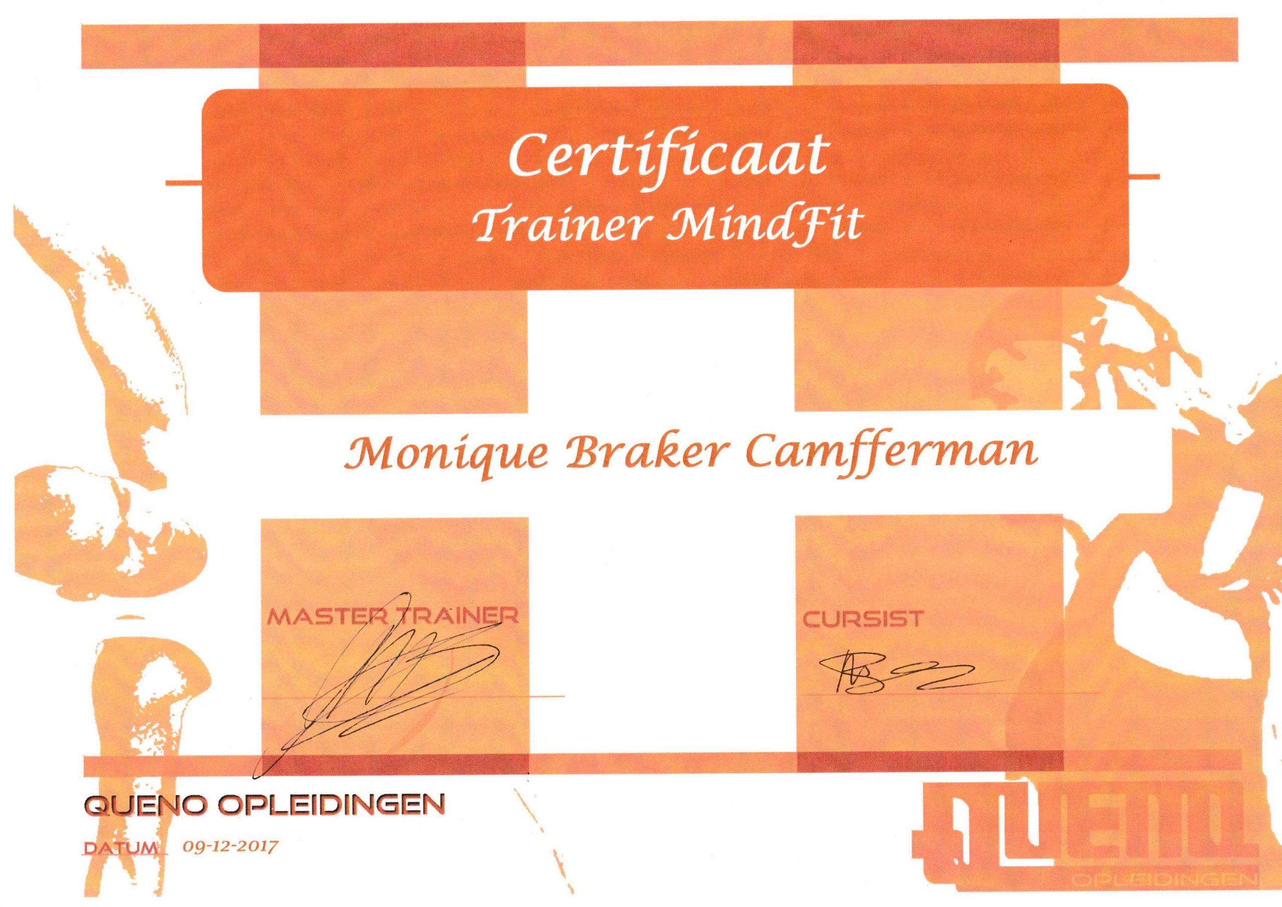 Certificaat Trainer MindFit