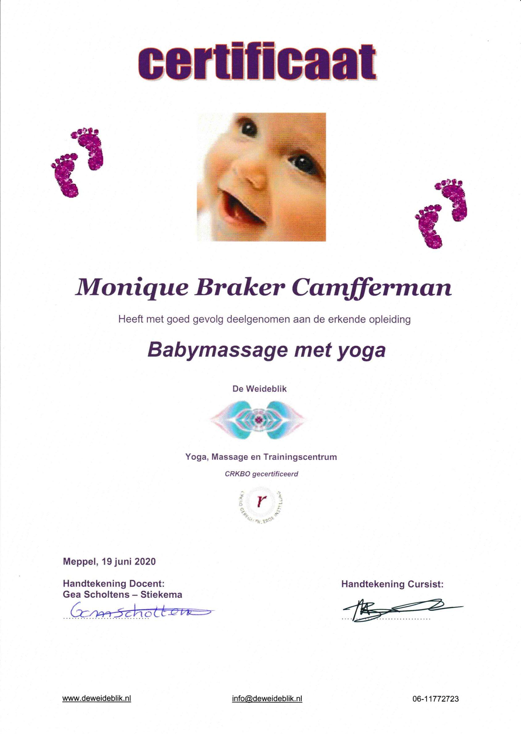 Baby Massage en Yoga